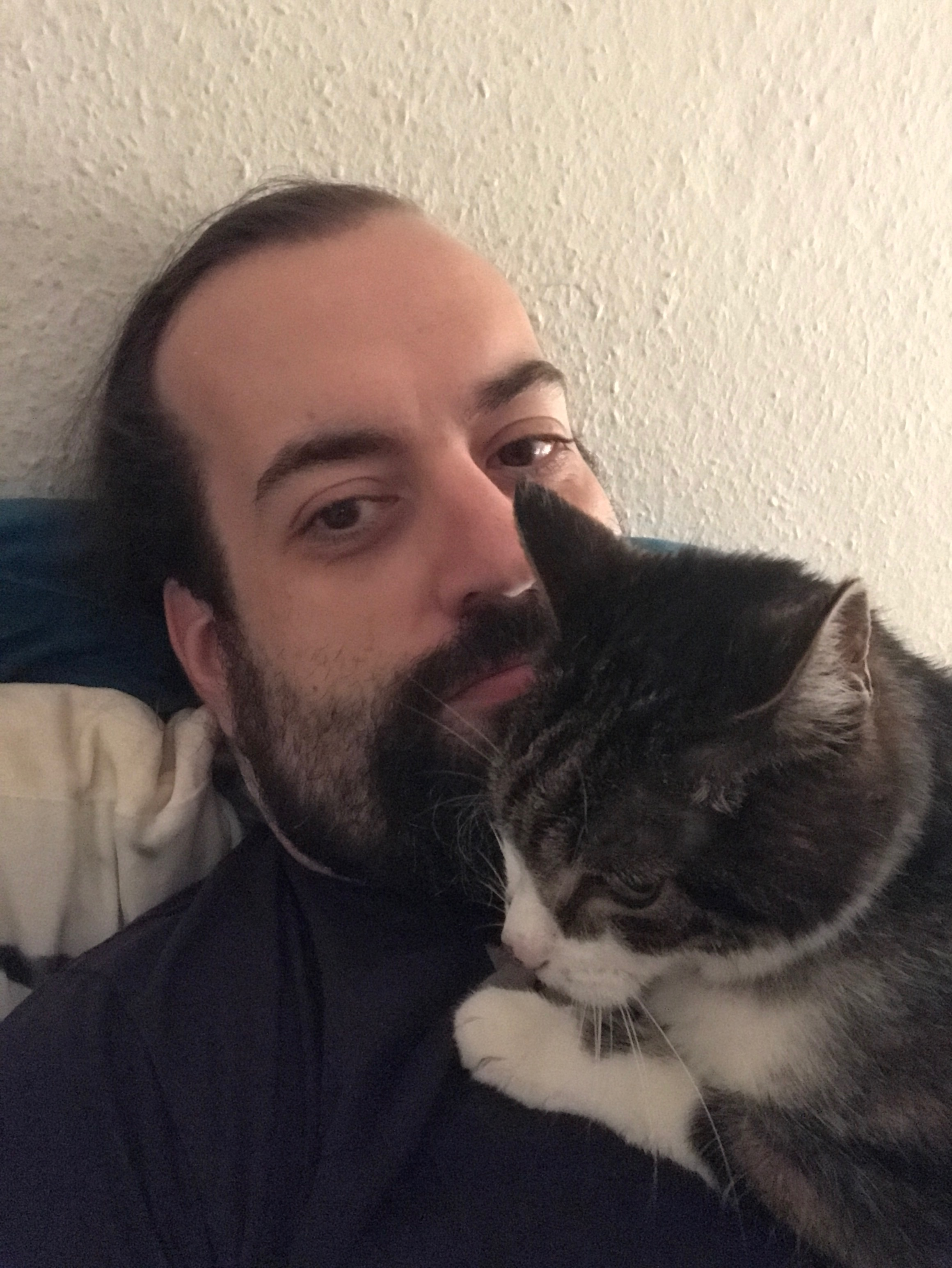 Schroedinger sitting on my chest
